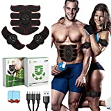 GreenMoon Electrostimulateur Musculaire, Ceinture Abdominale, Electrostimulateur fessier, Stimulateur Abdominal EMS, Appareil...
