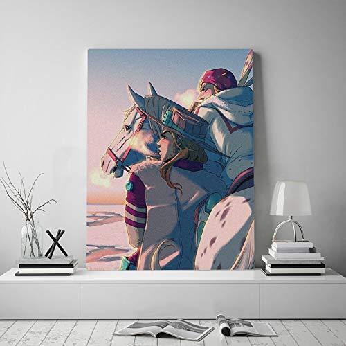 Bizarre Leinwand Poster Malerei Wandkunst Dekoration Wohnzimmer Schlafzimmer Studie Dekoration-Rahmenlos45X60 cm