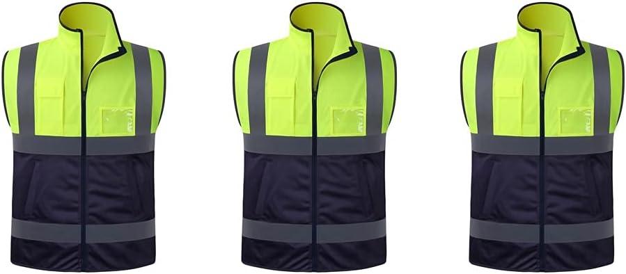 lhl Bright Reflective Vest Save money Zipper 5 popular Visibility Mu High Safety