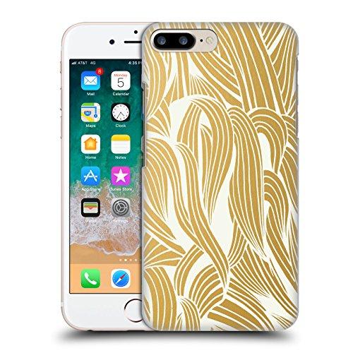 Head Case Designs Oficial Cat Coquillette Oro Orgánico Patrones 4 Carcasa rígida Compatible con Apple iPhone 7 Plus/iPhone 8 Plus