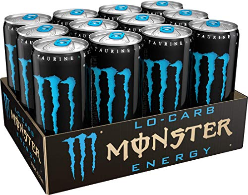 Monster Energy Zero Sugar, Low Calorie Energy Drink, 16 Ounce (Pack of 24) & Lo-Carb Monster Energy, Energy Drink, 10.5 Ounce (Pack of 12)
