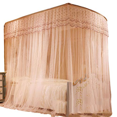 Best Deals! Bed Canopy Home Mosquito NetsU-Shaped Expansion Bed Gauze Tent for Large/King Size Bed J...