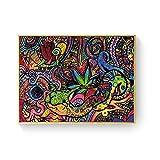 WuChao丶Store Ácido psicodélico LSD Lienzo Arte impresión Pintura póster Cuadros de Pared para la decoración de la Sala de Estar decoración del hogar 50x70 cm W-1502