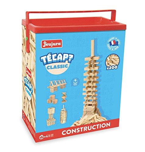 Jeujura - 8332- Jeux de Construction-Tecap Baril de Planchettes Classic - 200 Pieces