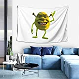 Shrek wazows-ki Tapestry Wall Hanging Anime Tapestries Wall Art Wall Tapestry Home Decor for Bedroom Living Room Dorm (40 x 60 inches)