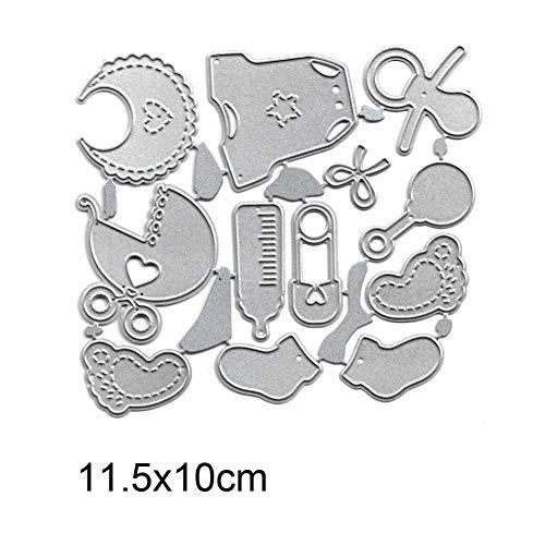 PIXIEY DIY snijden sterven Baby Sokken Carriage Set Metaal snijden Die Stencils Voor Diy Scrapbooking/Foto Album Embossing Diy Papier Kaarten maken Craft Dies