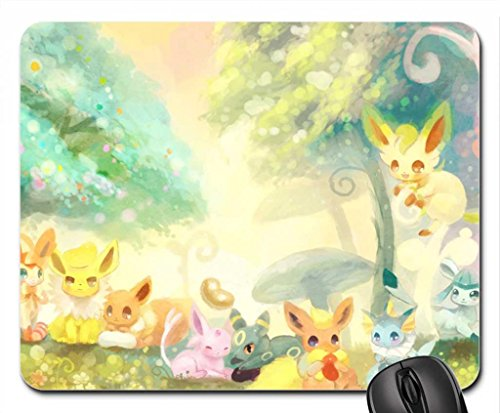 Pokemon(eevee Evolutions) Mouse Pad, Mousepad (10.2 x 8.3 x 0.12 inches)