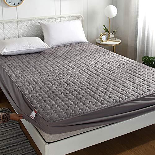 Preisvergleich Produktbild DDIAN Wasserdichter Matratzenschoner Atmungsaktive Matratzenauflage Ohne Knistern Baumwolle Matratzenschutz, 2, 200x220+30cm