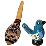 Andean Maraca Water Chirp Whistle Combo Set Peruvian Fair Trade Musical Instruments