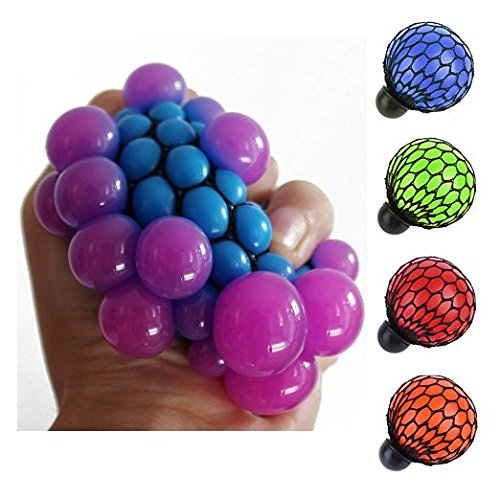 Teanfa Anti Stress Face Reliever Grape Ball Autism Mood Squeeze Relief Health...
