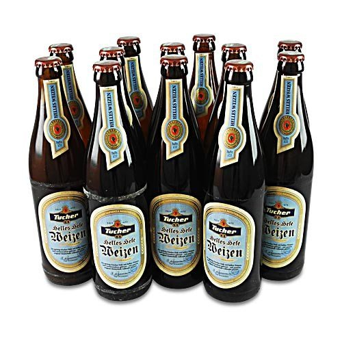 Tucher Helles Hefeweizen (12 Flaschen à 0,5 l / 5,2% vol.)