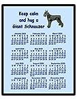 Mauspad / 2017-Kalender, Motiv: Riesenschnauzer