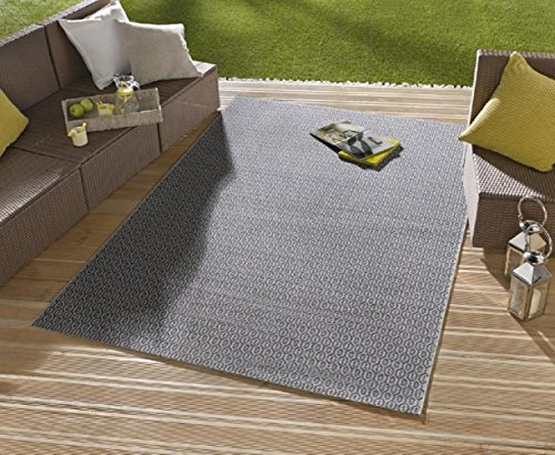 Bavaria Home Style Collection Teppich/moderner Teppich/Wohnzimmerteppich Outdoorteppich - für Balkon oder Terasse - für In und Outdor geeignet - der Hingucker zu Ihren Gartenmöbel