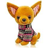 Mar's Designs - Perritos de Peluche - Peluche Perro Chihuahua con Jersey de Punto - Mide 22 cm y es Muy Suave - Regalo...