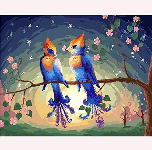 Pintura de diamante Diy5d que pájaros alados, pegatinas de punto de cruz de sala de estar, decoración del hogar, bordado de mosaico, regalos de vacaciones
