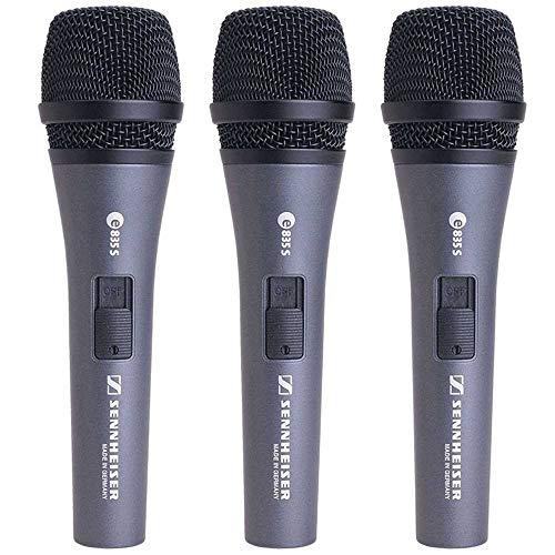 Sennheiser E835-S 3 Paquete Vocal Micrófonos