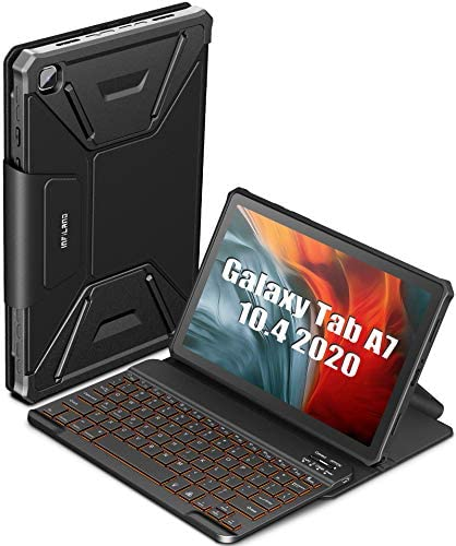 INFILAND Galaxy Tab A7 Backlit Keyboard Case Multiple Angles 7 Colors Backlight Detachable Wireless product image