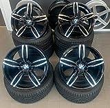 4 x 19 Zoll Damina Performance DM03 Alu Felgen schwarz poliert für 3er E36 E46 E90 E91 E92 F31 F31 3er E36 E46 E90 E91 E92 E93 F30 F31 4er F32 F33 F36 M4 335 435 M-Paket M-Performance CSL...