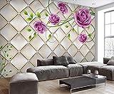 Papel Pintado 3D Bolso Suave Rosa Morado Fotomurale 3D Tv Telón De Fondo Pared Decorativos Murales
