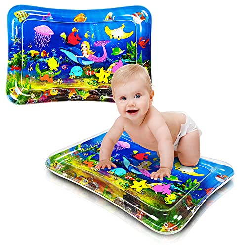 Tummy Time Water Play Mat,Tummy Time Mat Suitable for 3-6-9 Months Old Newborn Boys and Girls,Tummy Time Mats for Babies,Baby Water Play Mat,Fun Game Activity Center Toys, Strength Your Baby's Muscles