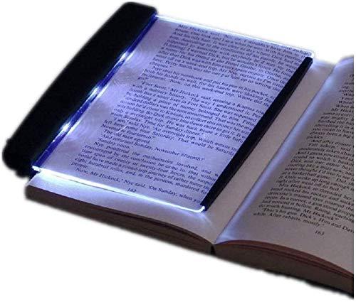 Wendry Libro Luz LED Lámpara Forma de Libro,Tablero de Lámpara de Luz Brillante de Lectura LED con Clip de Página Desmontable, Luz de Noche de Libro de Protección Ocular para Lectura de Noche