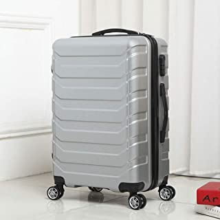 Swivel Wheel Suitcase Luggage Mirrored Luggage Out Travel Trolley case Rotating Four Wheels Gray