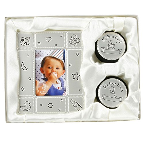 BABY PHOTO FRAME & MY FIRST CURL TOOTH BOX GIFT SET BIRTH SHOWER CHRISTENING NEW by BARGAINS-GALORE
