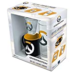 ABYstyle - Overwatch Glaspaket 29cl + Shooter + Mini Becher Logo