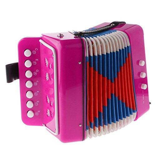 Gaoominy Acordeon de Boton Juguete Educativo de 7 Llaves Instrumento...