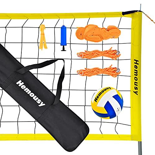 wowspeed Rete da Pallavolo Portatile Pieghevole,Professionale Rete da Beach Volley Set, Standard 9.5m x 1m,Regolabile in Altezza Include pallavolo e Borsa da Trasporto,per Outdoor,Parchi,Spiagge
