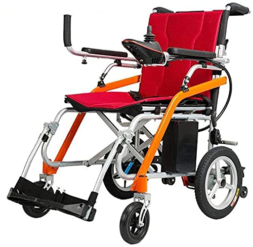Silla de ruedas eléctrica ultraligera batería de litio aleación de magnesio aleación eléctrica scooter asistida para las personas mayores con discapacidades
