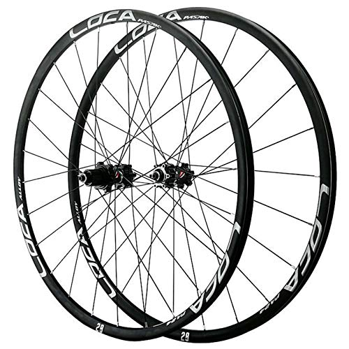 ZCXBHD Mountain Bike Quick Release Wheelset 26/27.5/29 Inch Straight Pull Disc Brake Alloy Wheel Small Spline 12 Speed 24 Hole (Color : Black, Size : 29in)