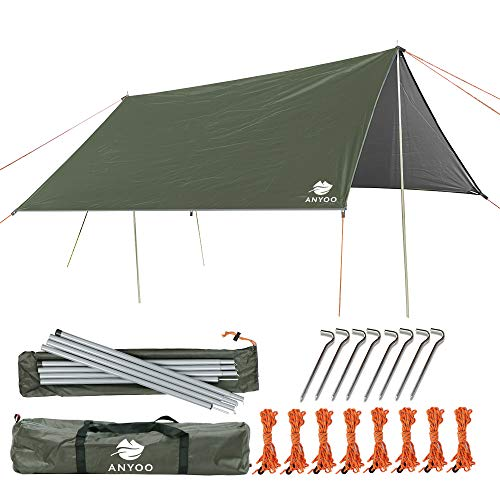 Anyoo Ripstop Rain Tarp Parasol Compact Léger...