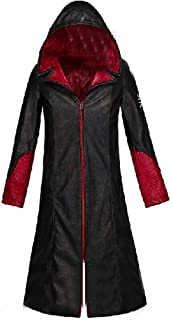 HOLRAN Devil May Cry 5 DMC Dante Men`s Leather Coat Jacket Cosplay Costumes