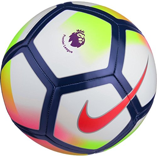 NIKE PITCH PREMIER LEAUGE FOOTBALL BALL 2017/2018 (White/Crimson)  size 5