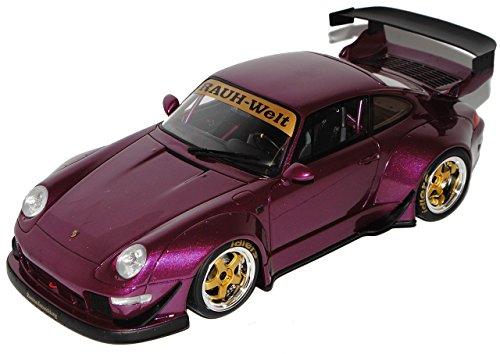 GT Spirit Porsche 911 993 RWB Rauh Welt Purple Violett 1993-1998 Nr 727 1/18 Modell Auto