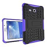 XITODA Galaxy Tab 3 Lite 7'' Funda,Samsung Tab3 Lite 7.0 Protección, Hybrid PC + TPU Silicone Funda con Stand para Samsung Galaxy Tab 3 Lite 7.0 SM-T110/T111/T113/T116 Cover Case Carcasa - Púrpura