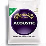 Martin M180 - Juego de cuerdas para guitarra acústica de bronce, 010-047