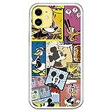 Funda para iPhone 11 Oficial de Clásicos Disney Mickey Comic para Proteger tu móvil. Carcasa para Apple de Silicona Flexible con Licencia Oficial de Disney.