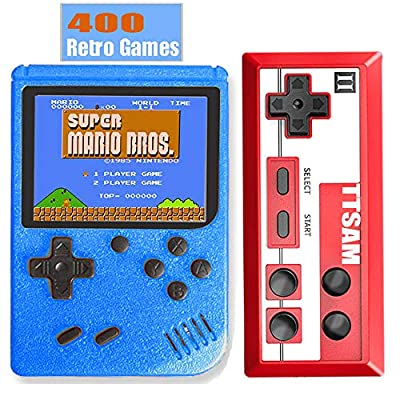 TTSAM Handheld Games Console for Kids Adults Retro FC Video Games Consoles 3 inch Screen 400 Classic Games Player with AV Cable Can Play on TV by TTSAM