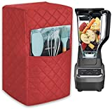 """Smart Blender Cover,Food Processor Dust Cover, Large Size Kitchen Appliances Cover,7""""Lx9""""Wx16.5""""H, Diamond Collection Kitchen Appliance Case With Two Big Pockets Year Around Protection For Appliances"""