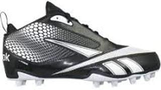 Reebok U-Form 4 Speed Mid M4 Men's Molded Football Cleats (Black/White) (13)