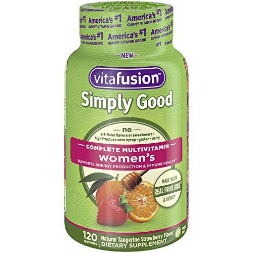 Vitafusion Simply Good Women's Complete Multivitamin Gummy Vitamins, 120 count