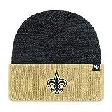 '47 New Orleans Saints 2-Tone Brain Freeze Cuff Beanie Hat - NFL Premium Cuffed Knit Toque Cap