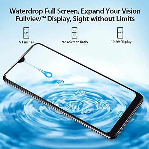 Blackview A60 Smartphone ohne Vertrag Günstig 15,49 cm (6,1 Zoll) HD+ Display 4080mAh Akku, 13MP+5MP Dual Kamera, 16GB ROM, 128 GB erweiterbar Dual SIM Android Einsteiger Handy - Mist Blau - 2