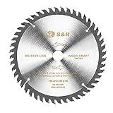 S&R Lama Sega Circolare/Disco Smerigliatrice per Legno 160x20mm 48 Denti. Anello di riduzione 16mm incluso. Qualità Professionale