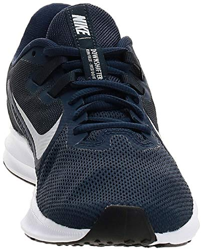 Nike Downshifter 9, Zapatillas de Running para Asfalto Hombre, Multicolor (Midnight Navy/Pure Platinum 401), 41 EU