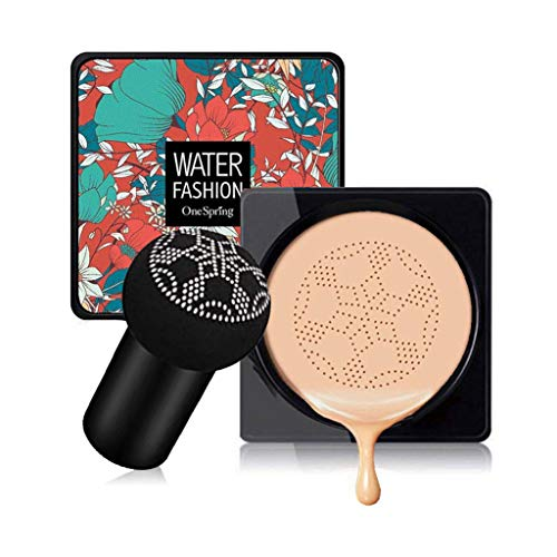 Mushroom Head Air Cushion CC Cream Foundation Cover Concealer Nude Makeup Moisturizing Brightening Pigment Liquid Foundation, Even Skin Tone Makeup Base BB