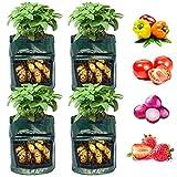 Potato Grow Bags 7 Gallon 4 Pack, NAMTSO Potato Planter Bags with Flap, Potato Bags for Growing Potatoes, Carrots, Onions, Sweet Potatoes