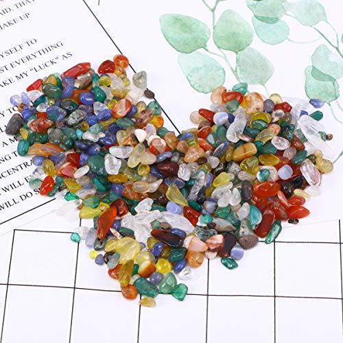 BESPORTBLE 2 Packungen Dekorative Steine ??Bunte Achat Kristall Kies Steinsteine ??Für Aquarium Landschaft Aquarium Vase Füller